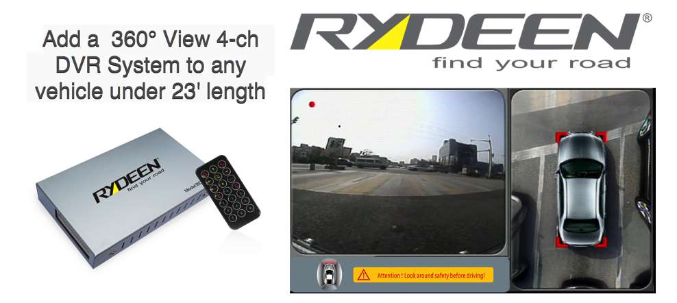 RDV360II Enhanced  360° View 4-ch DVR System