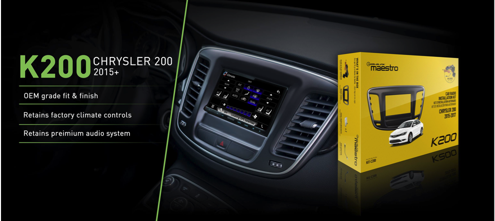 Maestro Chrysler 200 Dash Kit